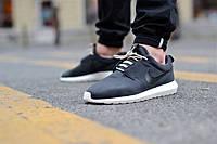 Мужские летние кроссовки Nike Roshe Run Nm Suede Black