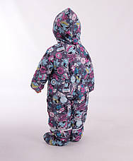 Детский зимний комбинезон-трансформер для девочки от KIKO 4549,  68-80, фото 3