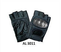 Кожаные перчатки беспалые кожа с карбоновой защитой