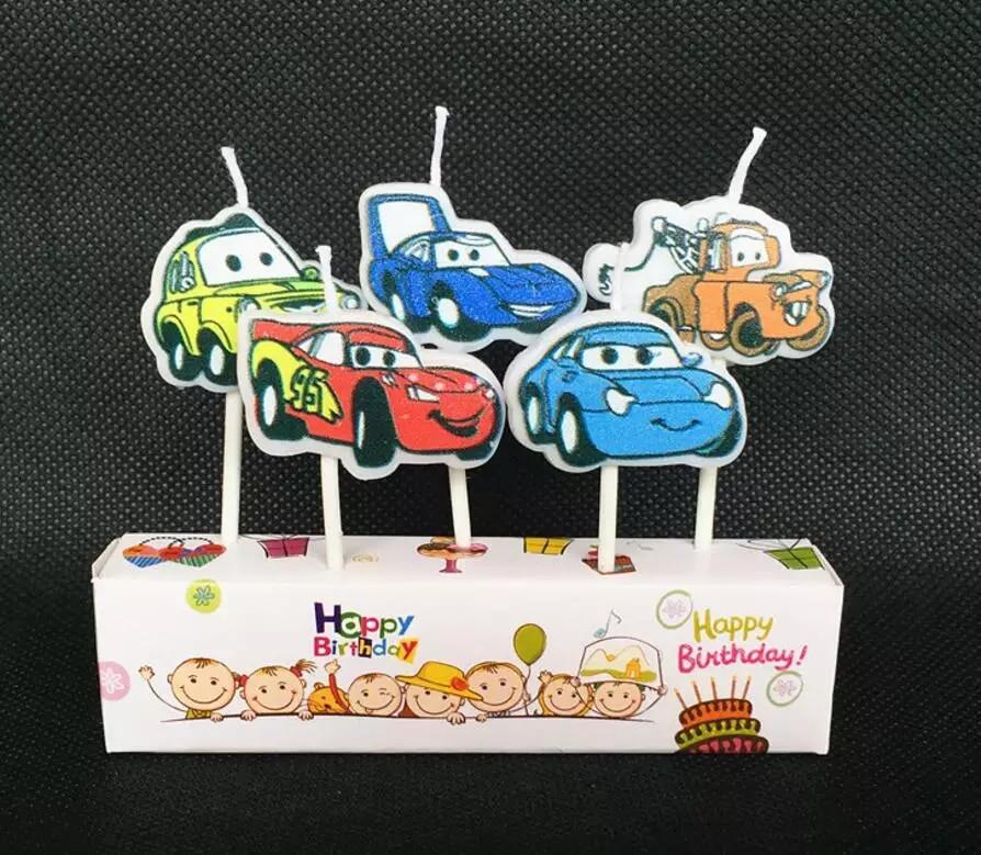 """Дитячі свічки для торта """"Тачки"""" 5 шт. машинки"""