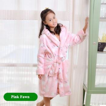 Детский халат из фланели. Розовый