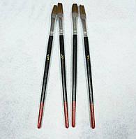 Кисть для рисования №1/2 темная, плоская, пони (товар при заказе от 200 грн)