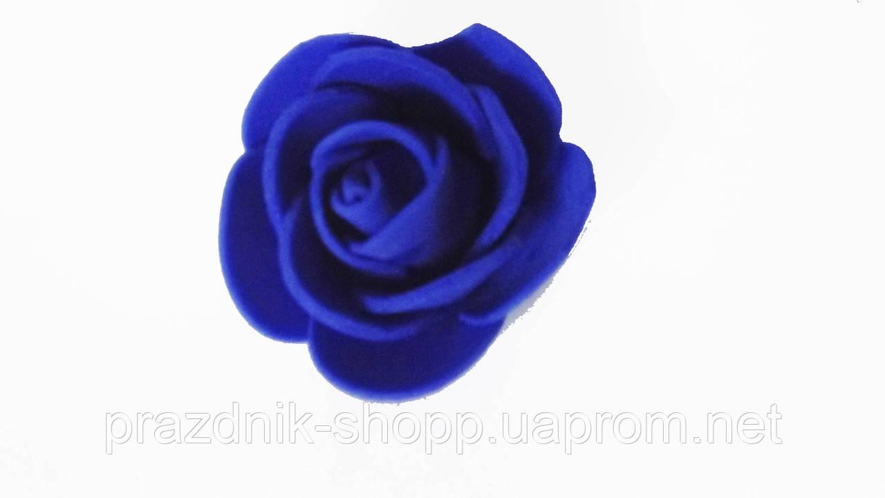 Роза латекс, синяя.
