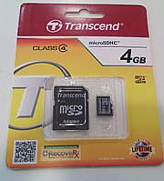 Карта памяти MicroSD Transcend 4GB