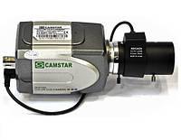 Цветная видеокамера без объектива camstar 220, матрица sony 420 твл, светочувствительность 0,5lux, питание 12в