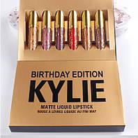 Набори з 6 рідких помад Kylie Birthday Edition, фото 1