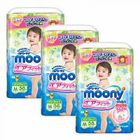 Moony подгузники – трусики Air Fit M  (6-11) кг, 58 шт. для детей начинающих ходить - 3 уп