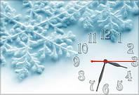 """Оригинальные Часы-картина """"Снежинки"""" 30х45 см"""