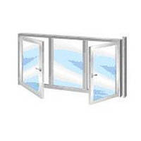 Окно металлопластиковое  Витрал 2.71*1.42