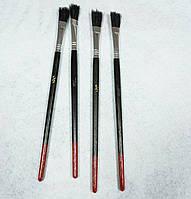 Кисть для рисования №1/2 черная, плоская, (товар при заказе от 200 грн)