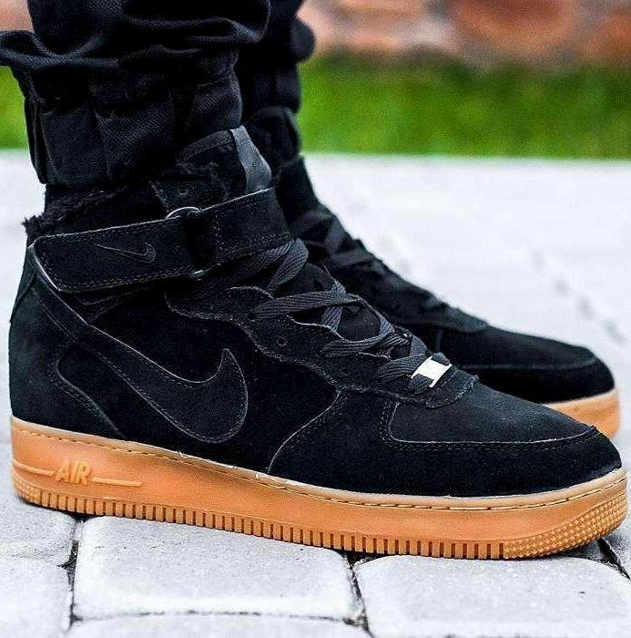 324e1444 Зимние мужские кроссовки Nike Air Force 1 High