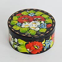 Украинские сувениры Шкатулка для украшений. Мак, ромашка, незабудка.