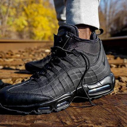 8098e5c8ca8f Мужские утепленные кроссовки в стиле Nike Air Max 95 Sneakerboot Black,  фото 2