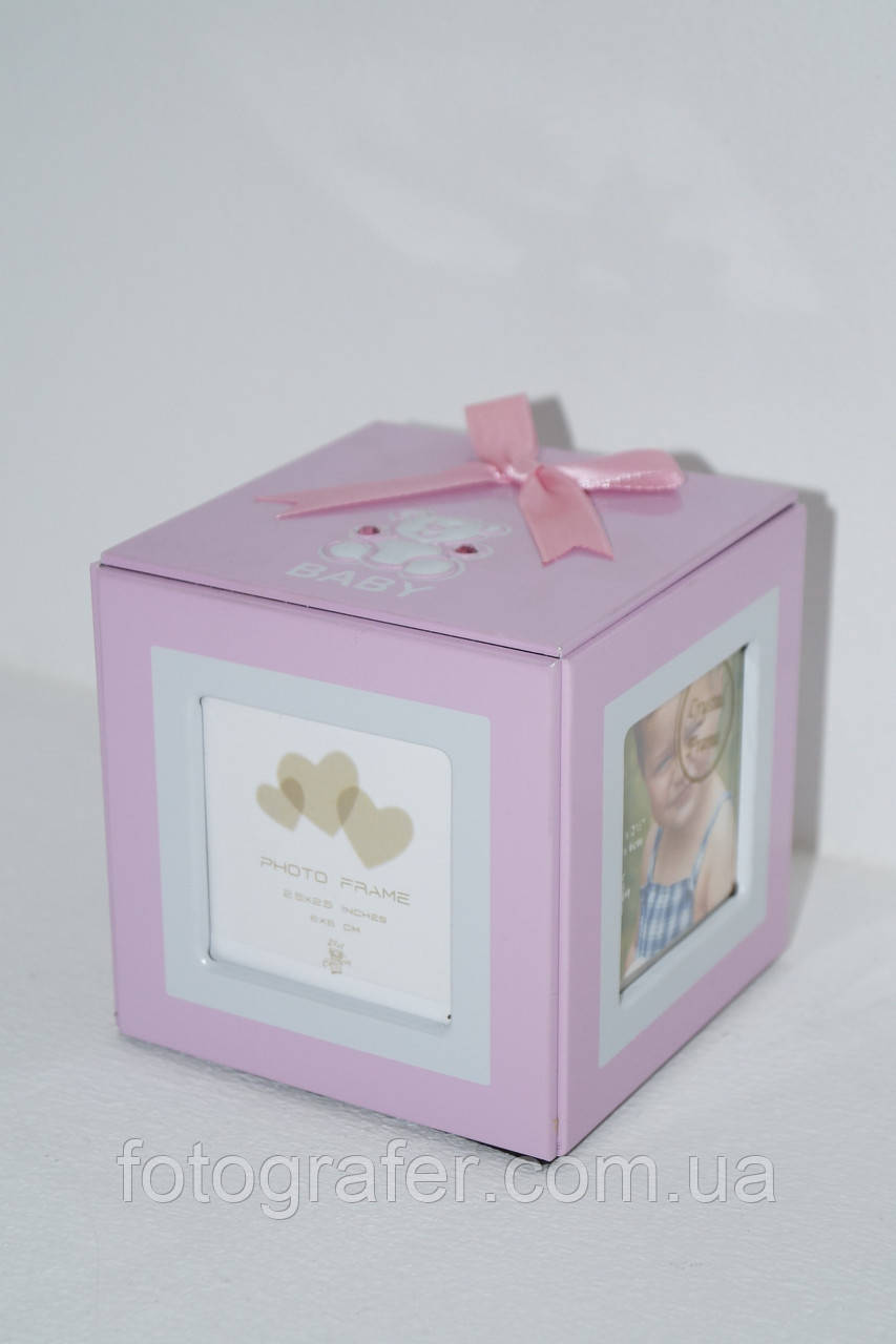 Фоторамка Asia 10х15 AB114 Cube Pink