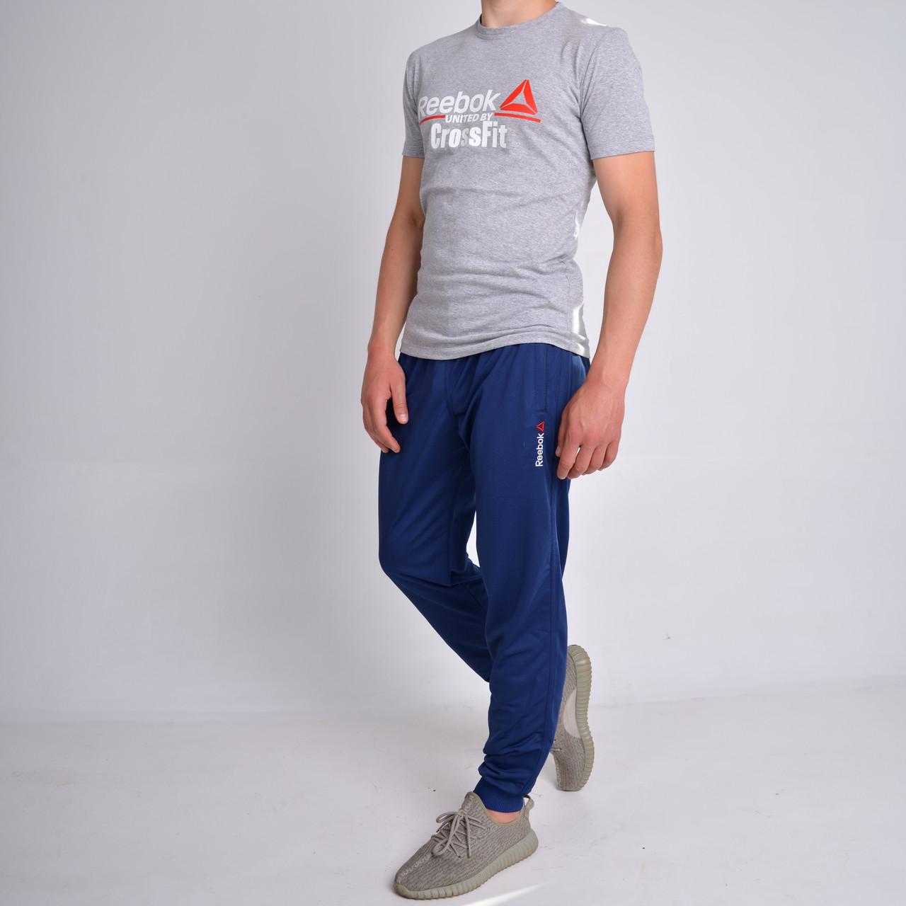 20b5c109 Мужские спортивные штаны на манжете Reebok (Рибок), Трикотаж-Пике (лакост)