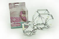 Набор с нержавеющей стали из двух форм для вырезания печенья 6 - в - 1 Fissman (AY-7424.BW)