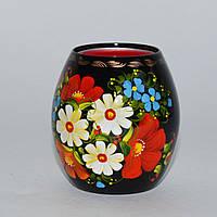 """Украинские сувениры. Подсвечник """"Яркие цветы"""", фото 1"""