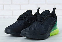 Кроссовки мужские Найк Nike Air Max 270 Black/Green. ТОП Реплика ААА класса., фото 3