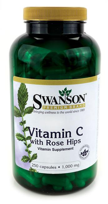 Витамин С с добавкой концентрата Шиповника, 1000 мг 250 капсул