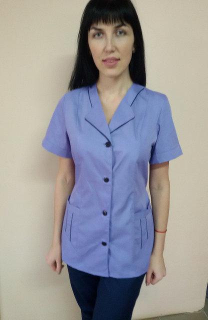 Женский медицинский костюм Зина на пуговицах