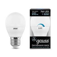 Светодиодная лампа GAUSS Globe.dim P45 7Вт 4100K E27 175-265В диммер