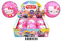 "Мяч обтянутый тканью с рисунком ""Hello Kitty"" диам. 15см. /6/72/ 45,5*30,5*15см(V06021)"