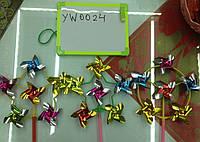 Ветрячок по 20шт 6 цв голограмма /50/1000/(YW0024)
