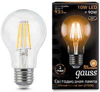 Светодиодная лампа GAUSS Black Filam. A60 10Вт 2700K E27 150-265В