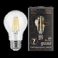 Светодиодная лампа GAUSS Filam.Graphene A60 15Вт 2700K E27 150-265В