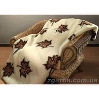 Одеяло из овечьей шерсти с рисунком кленовых листьев (200х220)