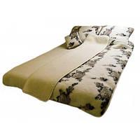 Одеяло из овечьей шерсти с неярким узором (200х220)