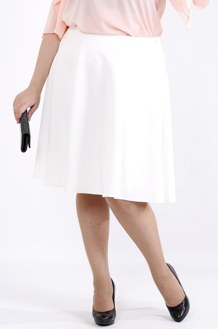 Светлая юбка из костюмки | 0903-1