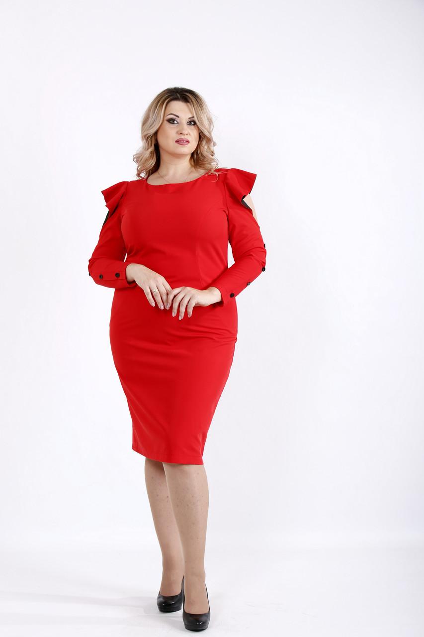 Красное универсальное платье-футляр | 0910-1