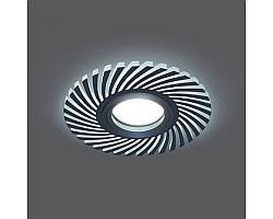 Врезной светильник GAUSS Backlight BL132 GU5.3 7W+3WLED(incl) 4000К круглый черный