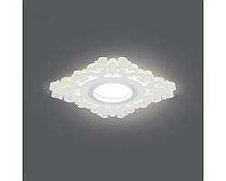 Врезной светильник GAUSS Backlight BL131 GU5.3 7W+3WLED(incl) 3000К квадрат белый