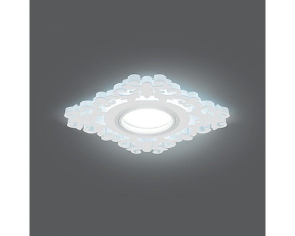 Врезной светильник GAUSS Backlight BL130 GU5.3 7W+3WLED(incl) 4000 К квадрат белый