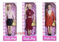 Кукла Defa 29см, сумочка, 3 вида, в кор. 31*11*5см., (48шт) (8365)