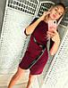 Облегающее короткое платье, украено молнией / 3 цвета  арт 6717-574, фото 4