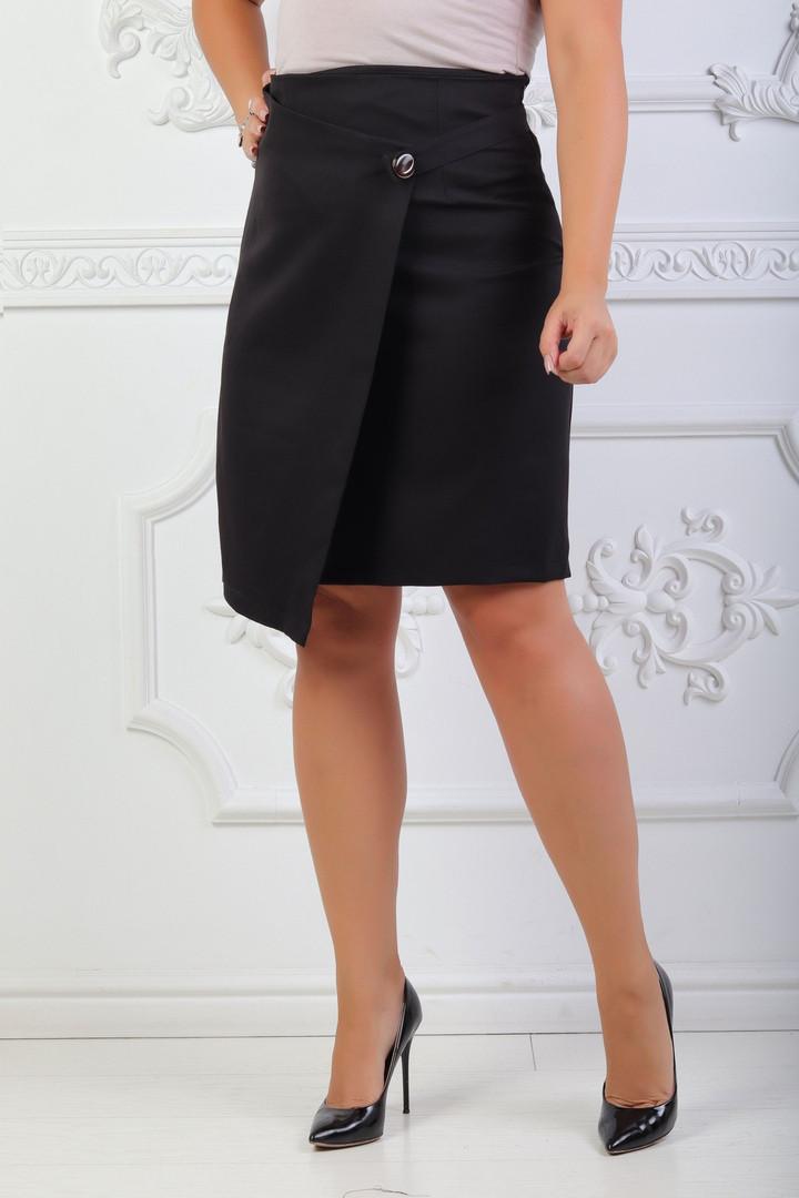 Классическая юбка больших размеров 48+  / 2 цвета  арт 6723-574