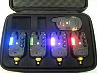 CarpCRUISER FA211-4V2 Набор Сигнализаторов Поклевки (4+1) с беспроводным пейджером и системой анти вор, фото 1