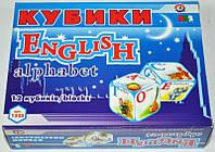 Кубики пласт. Английская абетка Технок /47/(1325)
