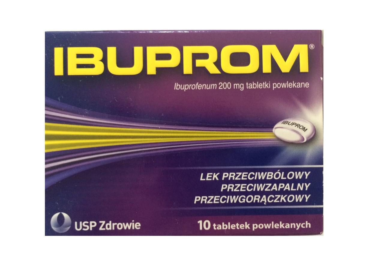 Таблетки IBUPROM 200мг (ибупром) 10 табл