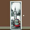 Наклейка на дверь Лондон полноцветная виниловая пленка ПВХ декор двери скинали 65*200 см