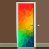 Наклейка на дверь Абстракция, (полноцветная фотопечать, пленка для двери), фото 1