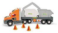 """Машина """"Super Tech Truck"""" со строительными контейнерами Тигрес //(36760)"""