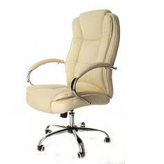 Кресло компьютерное офисное на колесиках Calviano Max бежевый