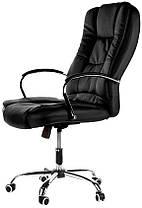 Кресло компьютерное офисное на  колесиках Calviano Max черный, фото 3