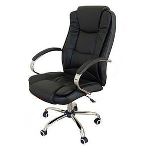 Кресло компьютерное офисное на  колесиках Calviano Max черный, фото 2