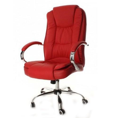 Кресло компьютерное офисное на колесиках Calviano красное