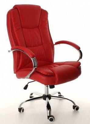 Кресло компьютерное офисное на  колесиках Calviano Max красное, фото 2